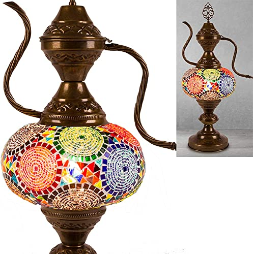 Turkish Moroccan Mosaic Table Desk Lamp Multicolor Light