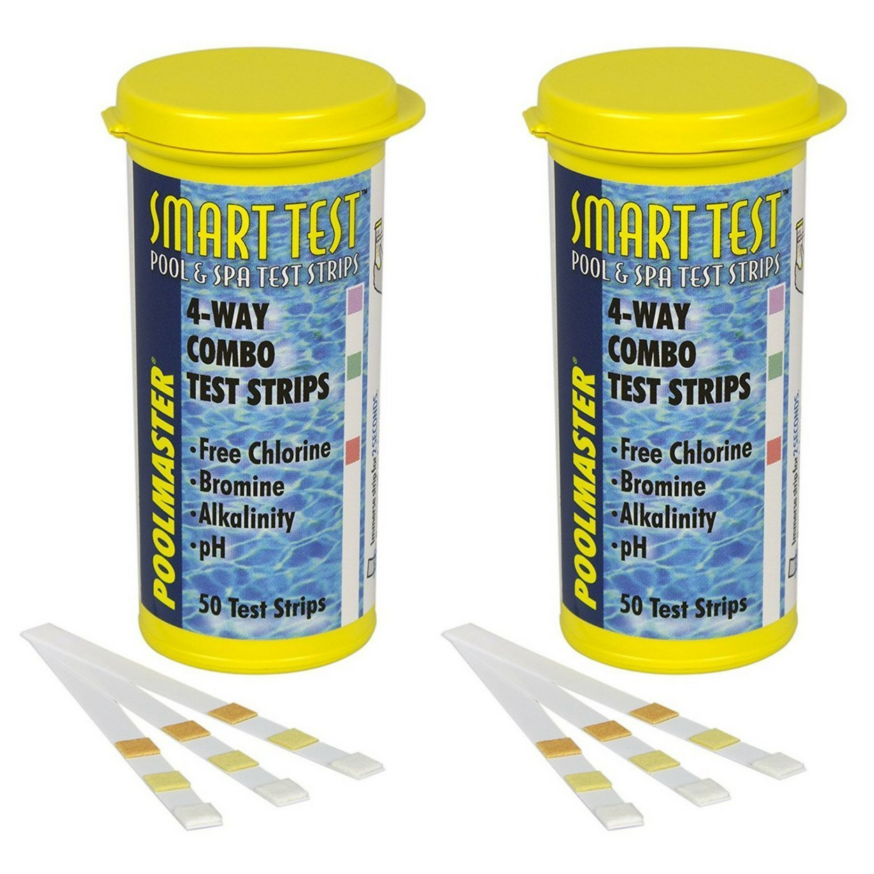 Poolmaster 22211 Smart Test 4-Way Pool and Spa Test Strips - 50ct, 2-Pack by Poolmaster