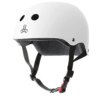 Triple Eight Certified Helmet All Black Rubber Small//medium 6z8 for sale online