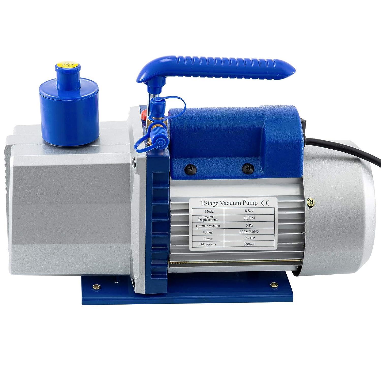 SucceBuy Pompe /à Vide Climatisation Voiture Simple Etage 8CFM3-4HP Air Vacuum Pump