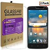 [2-Pack]ZTE Blade Spark Tempered Glass Screen Protector, ZTE Z971 Case, ZeKing 0.33mm 2.5D Edge 9H Hardness [Anti Scratch][Anti-Fingerprint] Bubble Free, Lifetime Replacement Warranty
