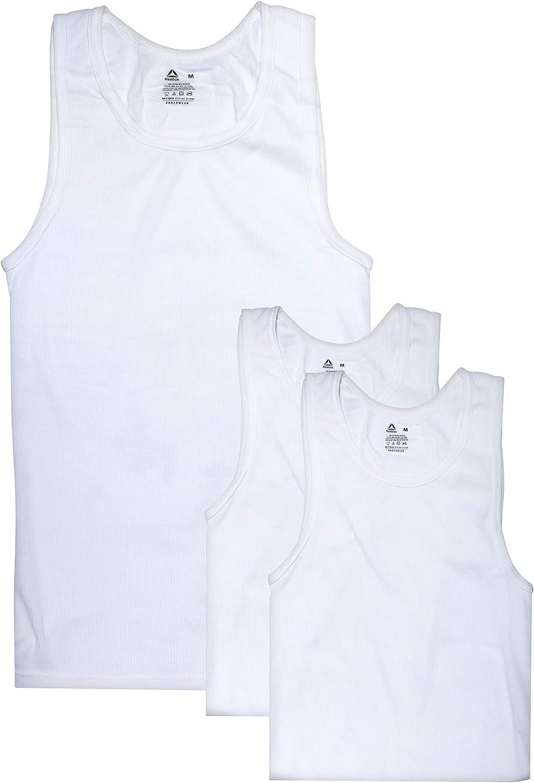 Reebok Men's Classic A-Shirt Undershirt Tank Top (3 Pack)