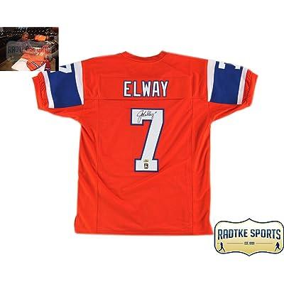 detailed look c283d b36af John Elway Autographed/Signed Denver Broncos 75th ...