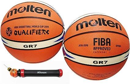 2-Pack Balon Baloncesto Molten BGR7 Copa del Mundo Caucho Premium ...