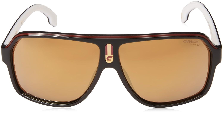 8896b9468d3f0 Amazon.com  Carrera Men s 1001 s Polarized Aviator Sunglasses BLACK WHITE  62 mm  Clothing