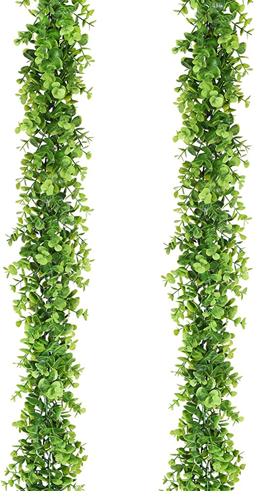 Silk Plant Decor and More UV Protected Hanging Greenery in Planter Ivy