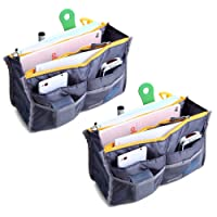 2pezzi Magik Travel Insert Handbag Purse Large Liner organizer Tidy Bags