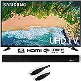 "Samsung UN65NU6900 65"" NU6900 Smart 4K UHD TV (2018) w/Sound Bar Bundle Includes, Vivitar 24-Inch Wall Mountable Wireless Bluetooth Soundbar and Monoprice 6ft Optical Toslink 5.0mm OD Audio Cable"