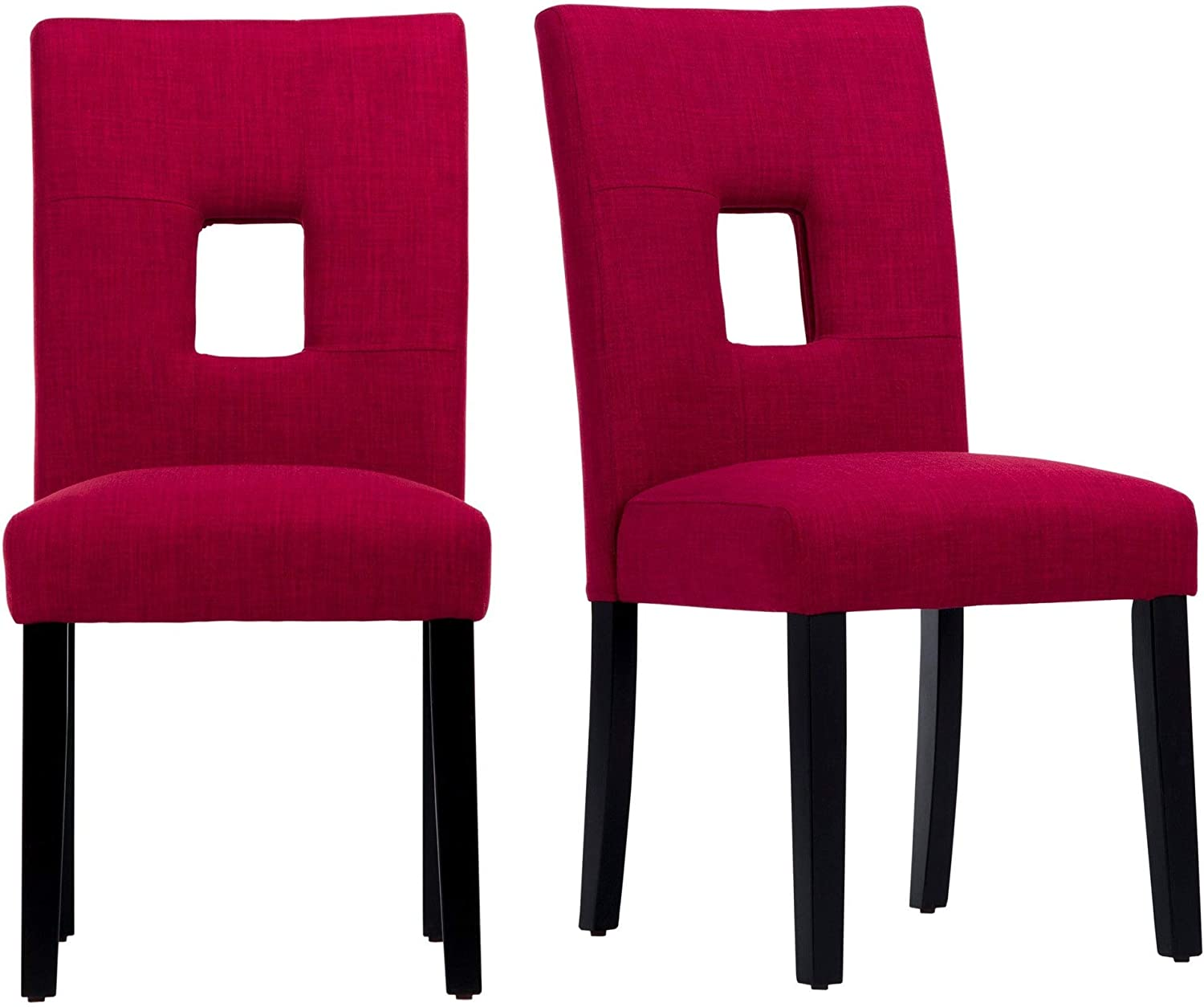 Inspire Q Mendoza Keyhole Back Dining Chairs Set of 2 by Bold Red