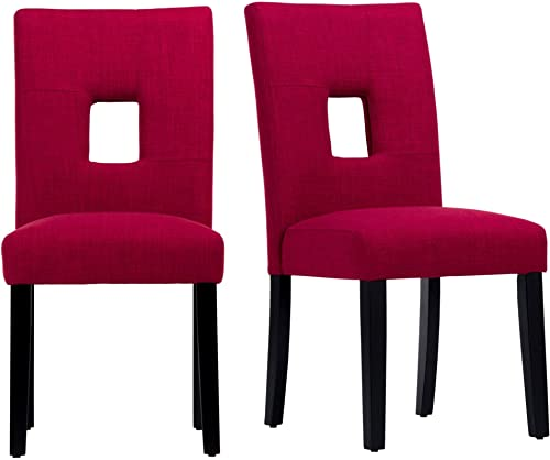 Inspire Q Mendoza Keyhole Back Dining Chairs Set of 2