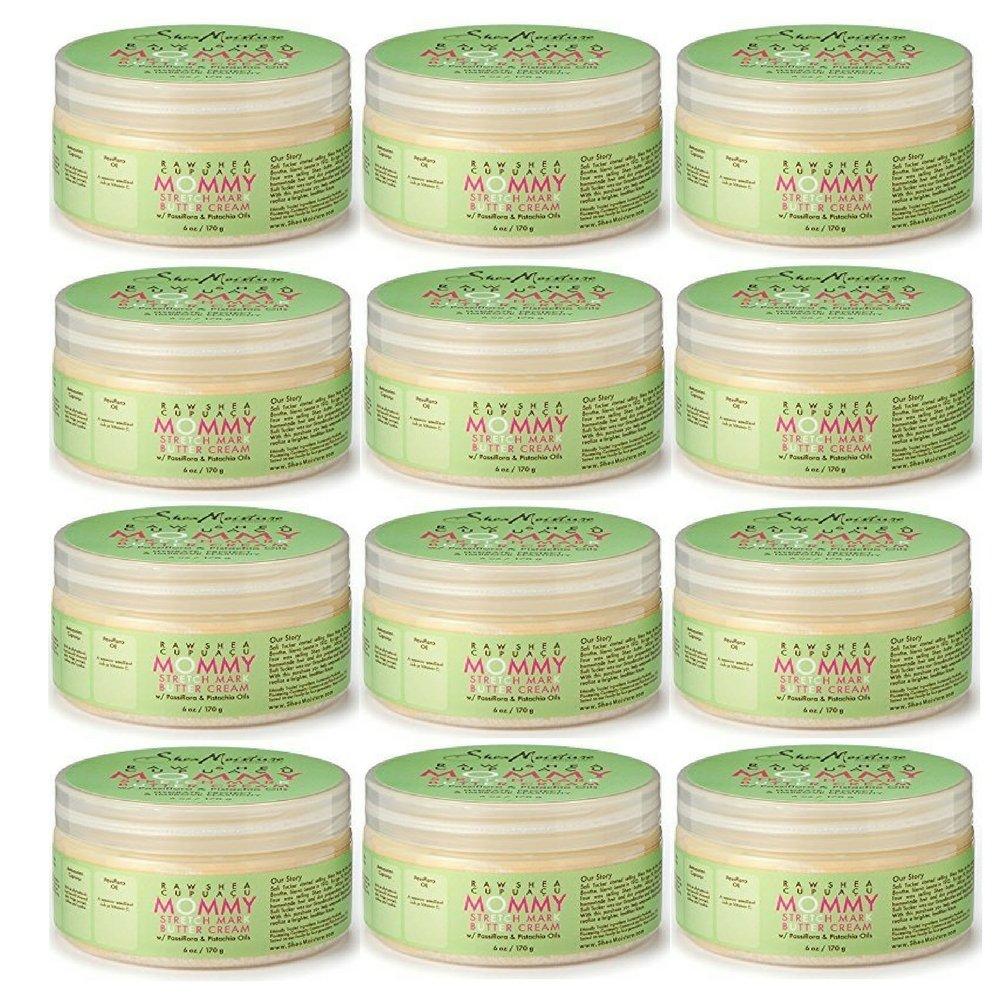 SheaMoisture Raw SheaCupuacu Mommy Stretch Mark Butter Cream | 6 oz. (12 pack)