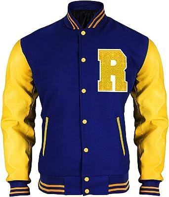 En Riverdale Apa Jacket Andrews Varsity Bomber Cuir Kj first R Fashion Veste Archie Letterman nwk8OP0