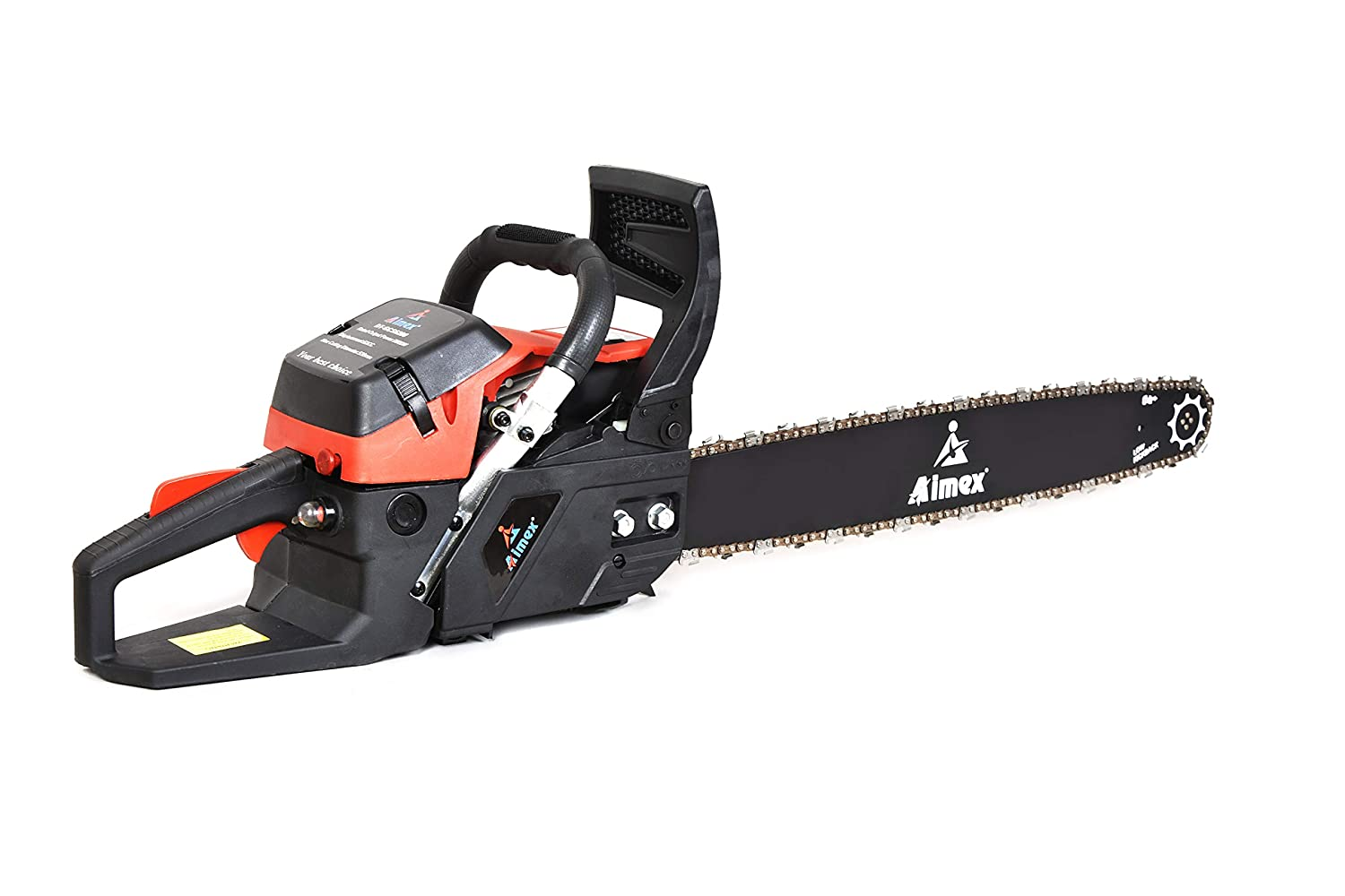 SHAKTI TECHNOLOGY 18/10 Steel 22-inch Petrol Chain Saw 62 CC 2 Stroke Air cooled (Red)