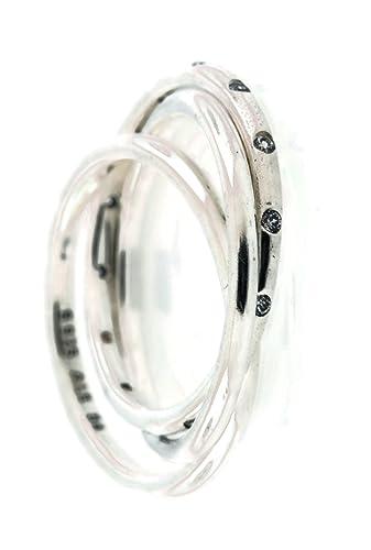d1c7421bf Pandora Swirling Symmetry Ring, Clear CZ 191034CZ-48 EU 4.5 US:  Amazon.co.uk: Jewellery