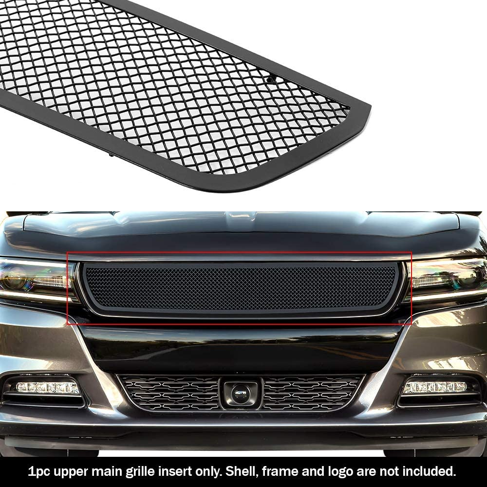 APS Compatible with 2015-2020 300C 300S Main Upper Stainless Steel Black Mesh Grille Insert R76378K