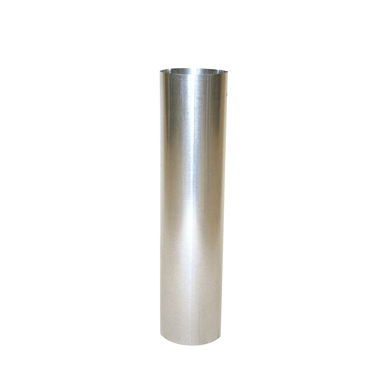 Kamino - Flam – Tubo para chimenea, Tubos para estufa de leña, Conducto de humos, Tubo vitrificado – acero resistente a altas temperaturas – plata, Ø 120 mm/longitud 500 mm Kamino Flam 331075