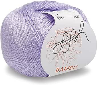 ggh Bambu - 007 - Lila - Lana de bambú para tejer y hacer ganchillo: Amazon.es: Hogar