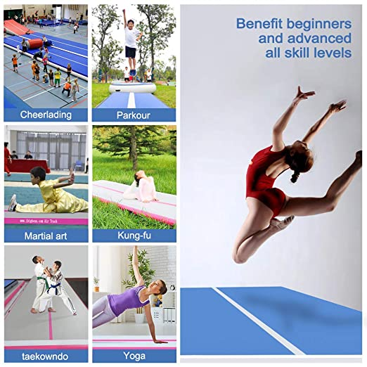 Amazon.com: Colchoneta inflable de gimnasia Ibigbean para ...