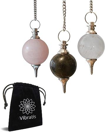 """Vibratis Lot De 3 Pendules Divinatoires De Radiesthesie En Cristal De Roche Quartz Rose Amethyste Н'𝐚𝐭𝐢𝐬𝐟𝐚𝐢𝐭 Н¨ð® Н'𝐞𝐦𝐛𝐨𝐮𝐫𝐬𝐞 Нš Н•ðˆð"""" Amazon Fr Cuisine Maison"""