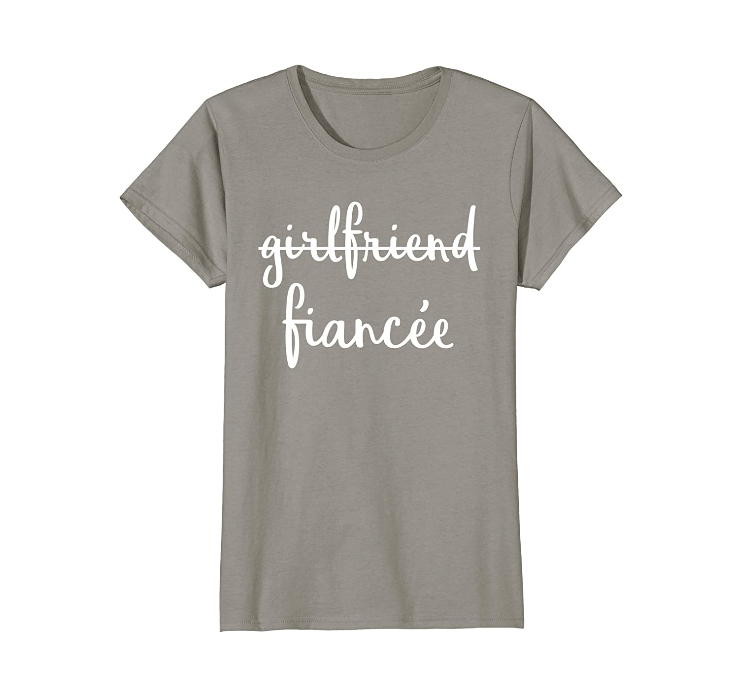 Womens Girlfriend Fiancee T Shirt, Fiance Engagement Party Tshirt-alottee gift