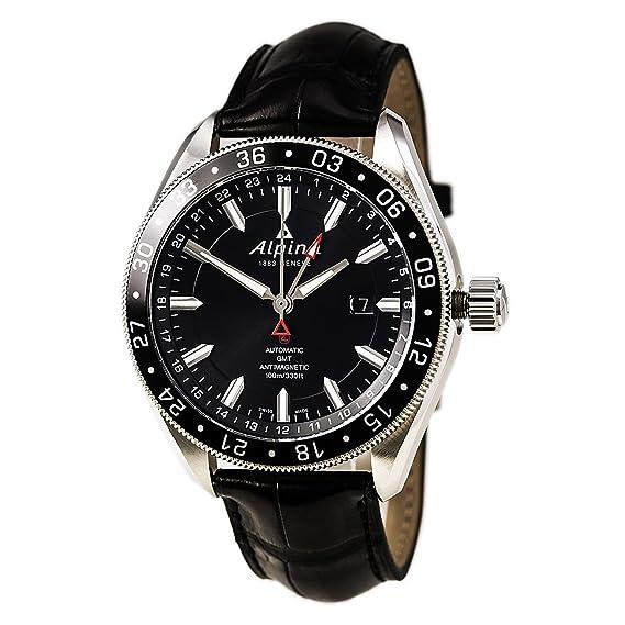 Alpina AL550G5AQ6 AL-550G5AQ6 - Reloj para hombres, correa de cuero color negro: Amazon.es: Relojes