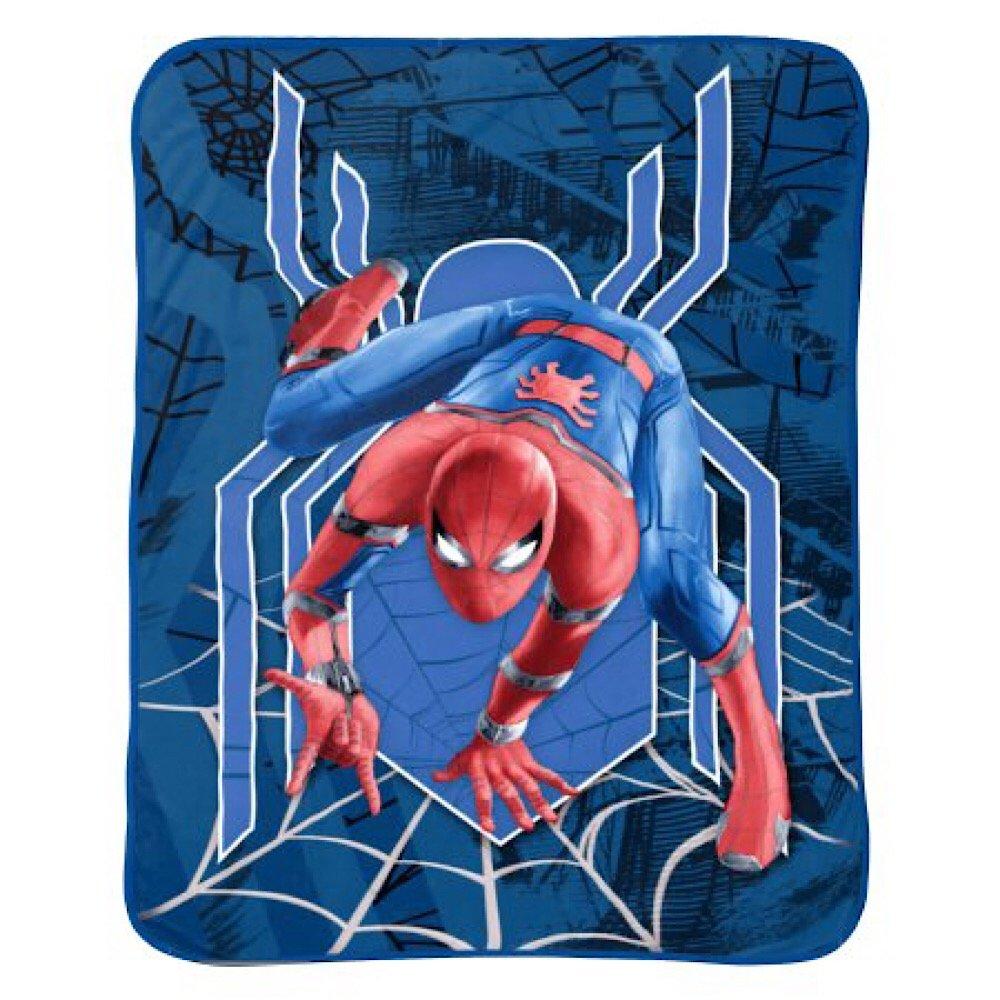 Spiderman Kids Marvel Plush Blanket   B07BZSN87C