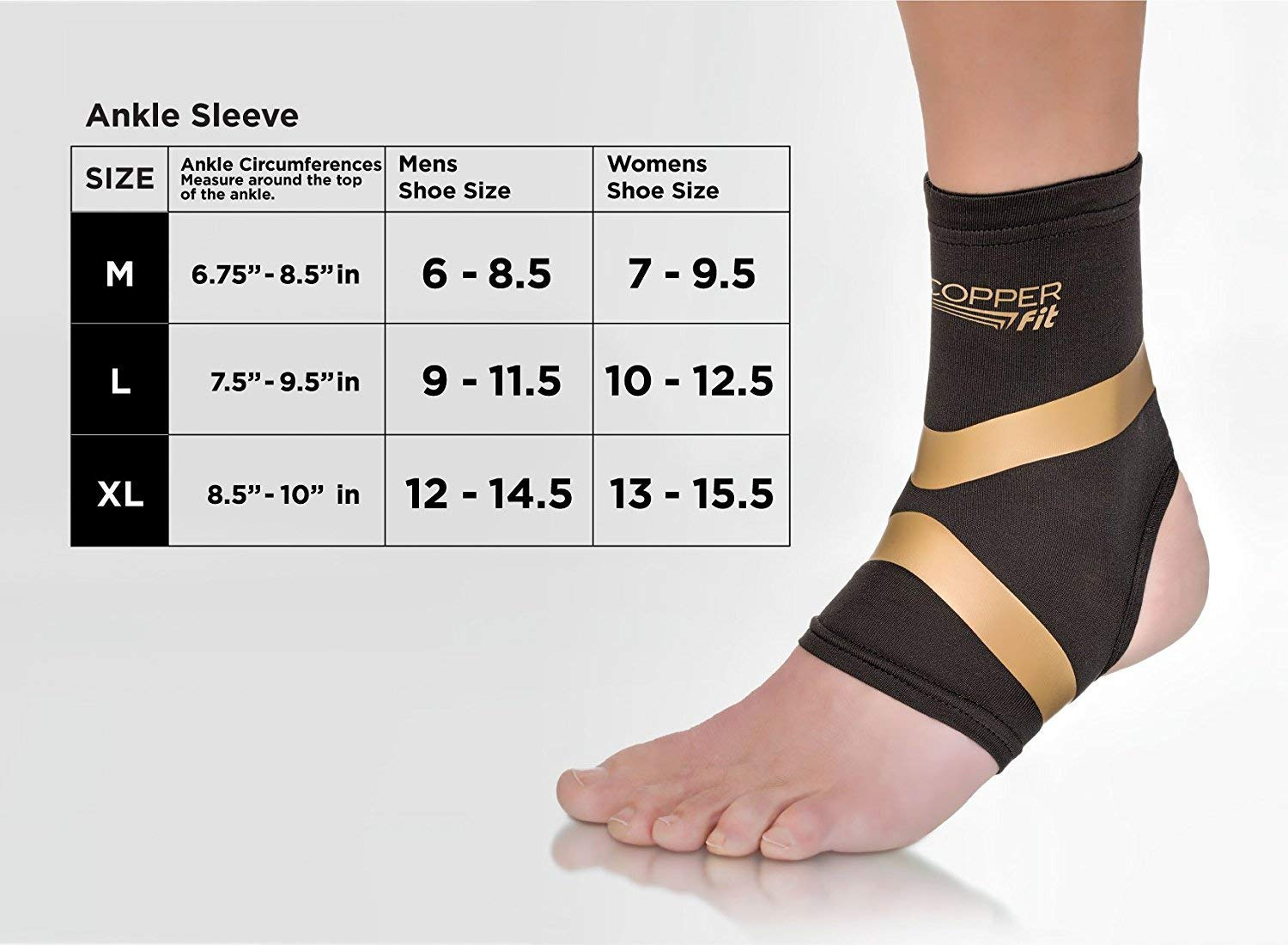 e8f75bd736 Amazon.com: Copper Fit Pro Series Performance Compression Ankle Sleeve:  Sports & Outdoors