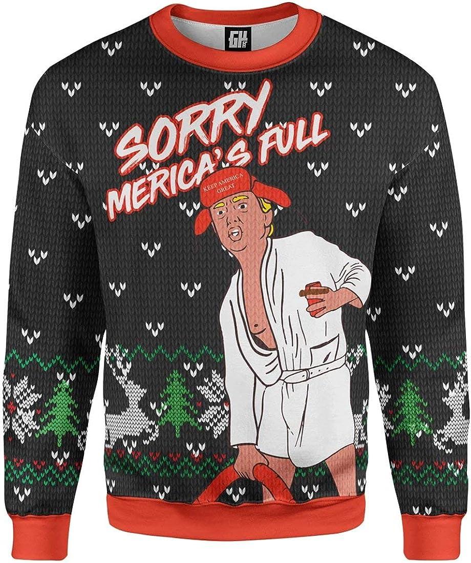 S-XXL Greater Half Sorry Mericas Full Trump Christmas Sweater