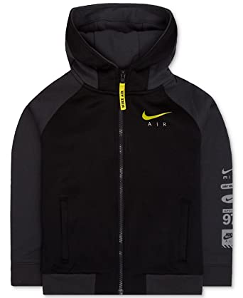 d2dbb0c0b3d1 Amazon.com  Nike Boys Air Full Zip Sweatshirt Hybrid Jacket (4 ...