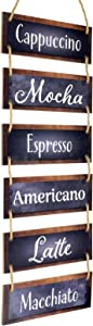 "Excello Global Products Large Hanging Wall Sign: Rustic Wooden Decor (Coffee) Hanging Wood Wall Decoration (11.75"" x 32"")"