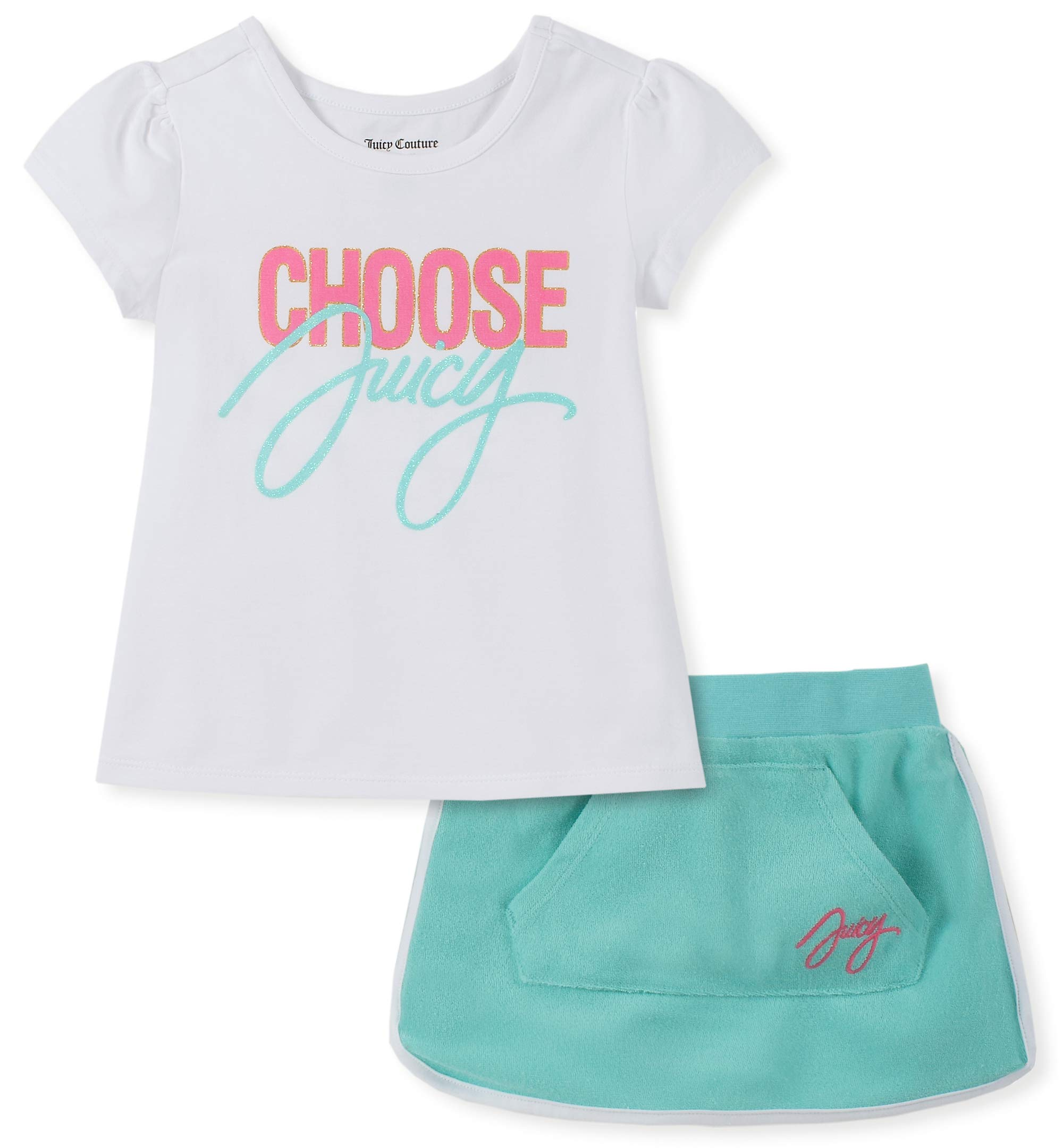 Juicy Couture Girls' Big 2 Pieces Scooter Set, White/Green 8/10