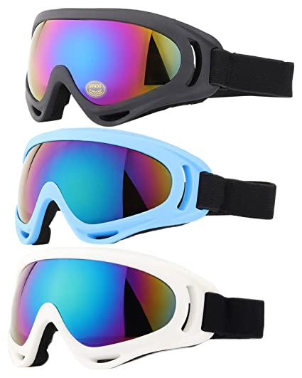 Ski Goggles, Yidomto Pack of 3 Snowboard Goggles for Kids