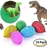 Jofan 24pcs Novelty Magic Large Size Crack Easter Dinosaur Eggs Hatching Toy with Mini Toy Dinosaur Figures Inside