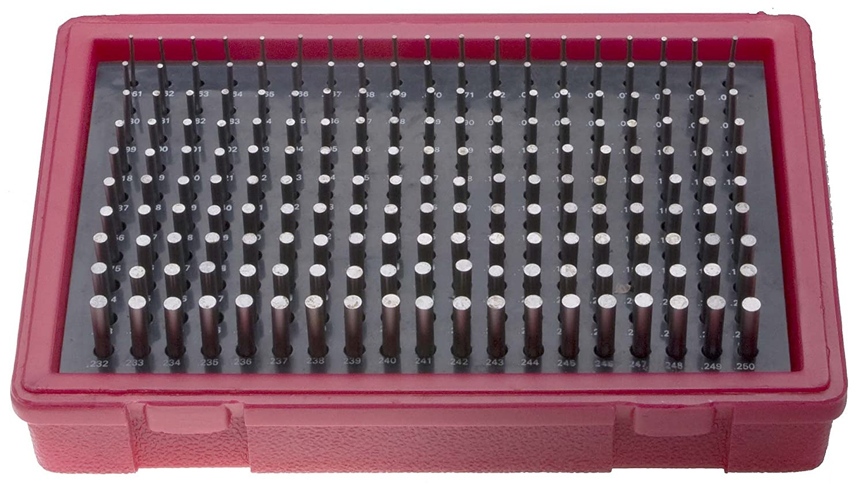 MC 1 M .061 .250 by .001 Minus Tolerance Pin Gage Set 190 Gages