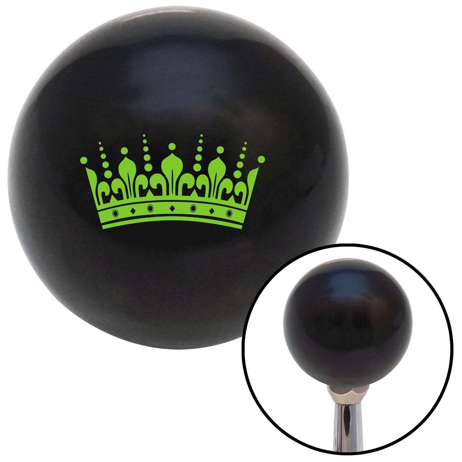 Green Kings Crown American Shifter 104626 Black Shift Knob with M16 x 1.5 Insert