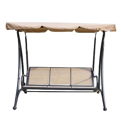 Amazon Com Sliverylake Outdoor 3 Person Patio Swing Hammock Chair