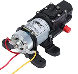 ESUMIC 12 Volt Fresh Water Diaphragm Pump,DC 12V Self Priming Electric Pump 100PSI 4L/Min for RV Caravan Boat Cleaning Washing and Garden Watering