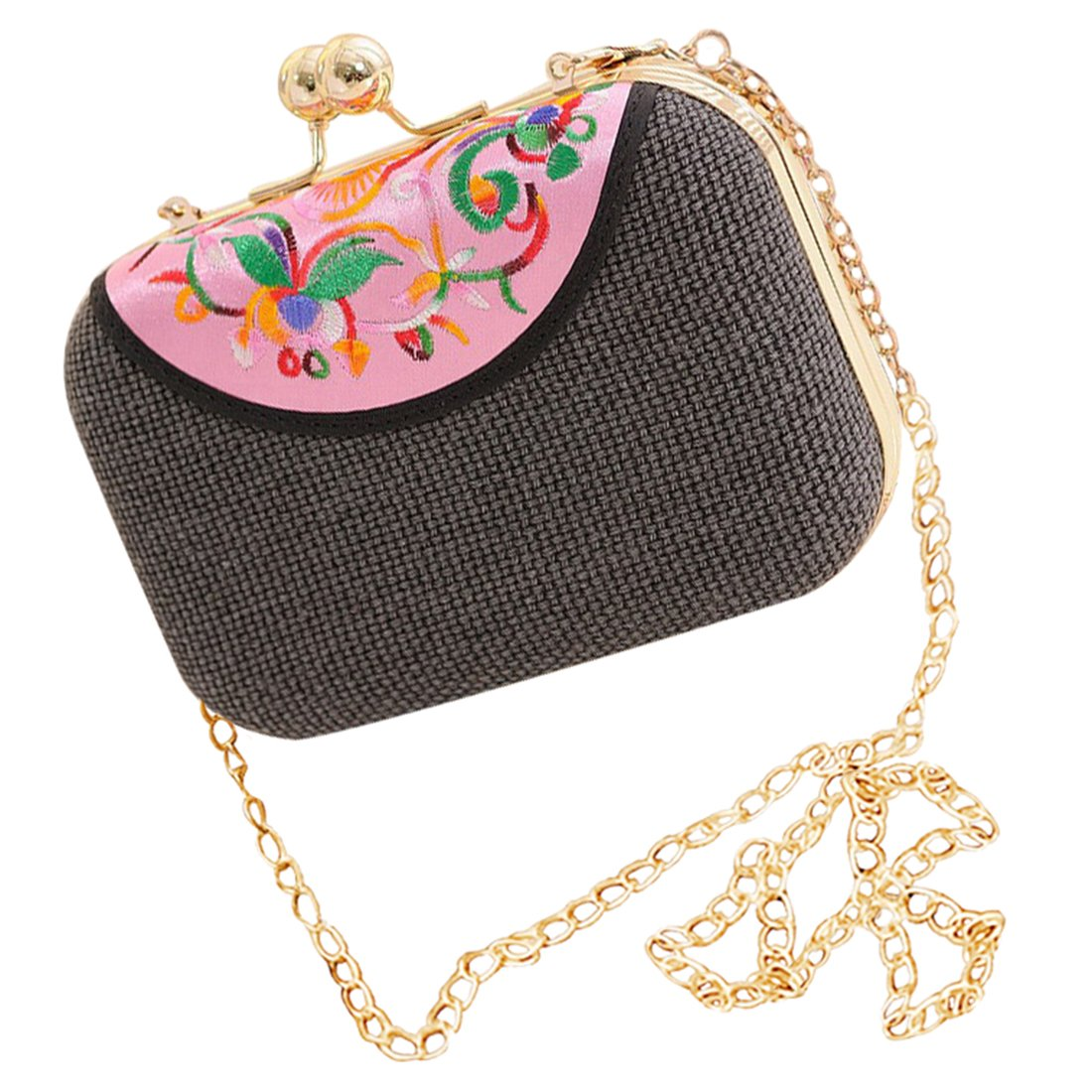 2690eae471db8 Retro national style Girls Shoulder Bag - SODIAL(R)Retro national style PU  leather Women s mini evening bag fashion clutch banquet bag girls shoulder  bag ...
