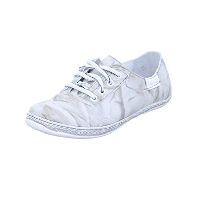 Kacper 2-6702 Damen Schnürer Sneaker Halbschuh Schnürschuh Leder Grau (Grau), Größe 38