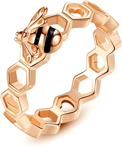 Bee fan Gift for her HoneyBee Bee Sterling Silver Dainty Bracelet