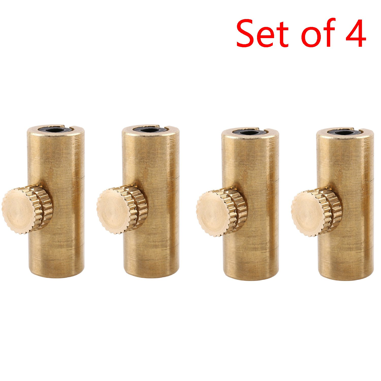 Timiy Set of 4 Elegant Brass Wolf Tone Gone Eliminator/Suppressor for Cello(Gold)