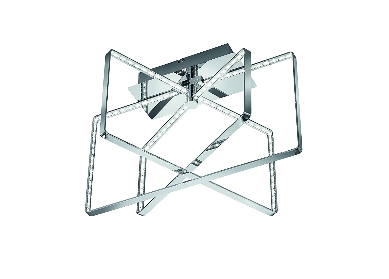 Trio Prater - Plafón cuadrado, 15 W, color cromo [Clase de eficiencia energética A++] Reality Leuchten R62503106
