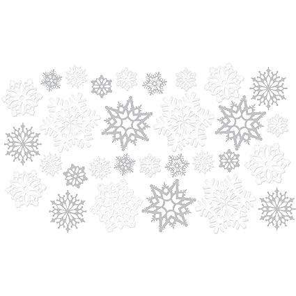 30 Piece Snowflake Decorations Cutouts Value Pack