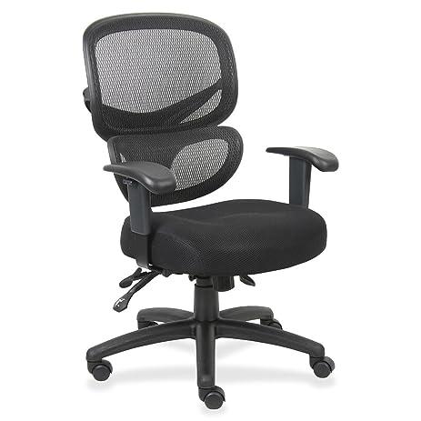 Beau LLR60622   Lorell Mesh Back Fabric Executive Chairs