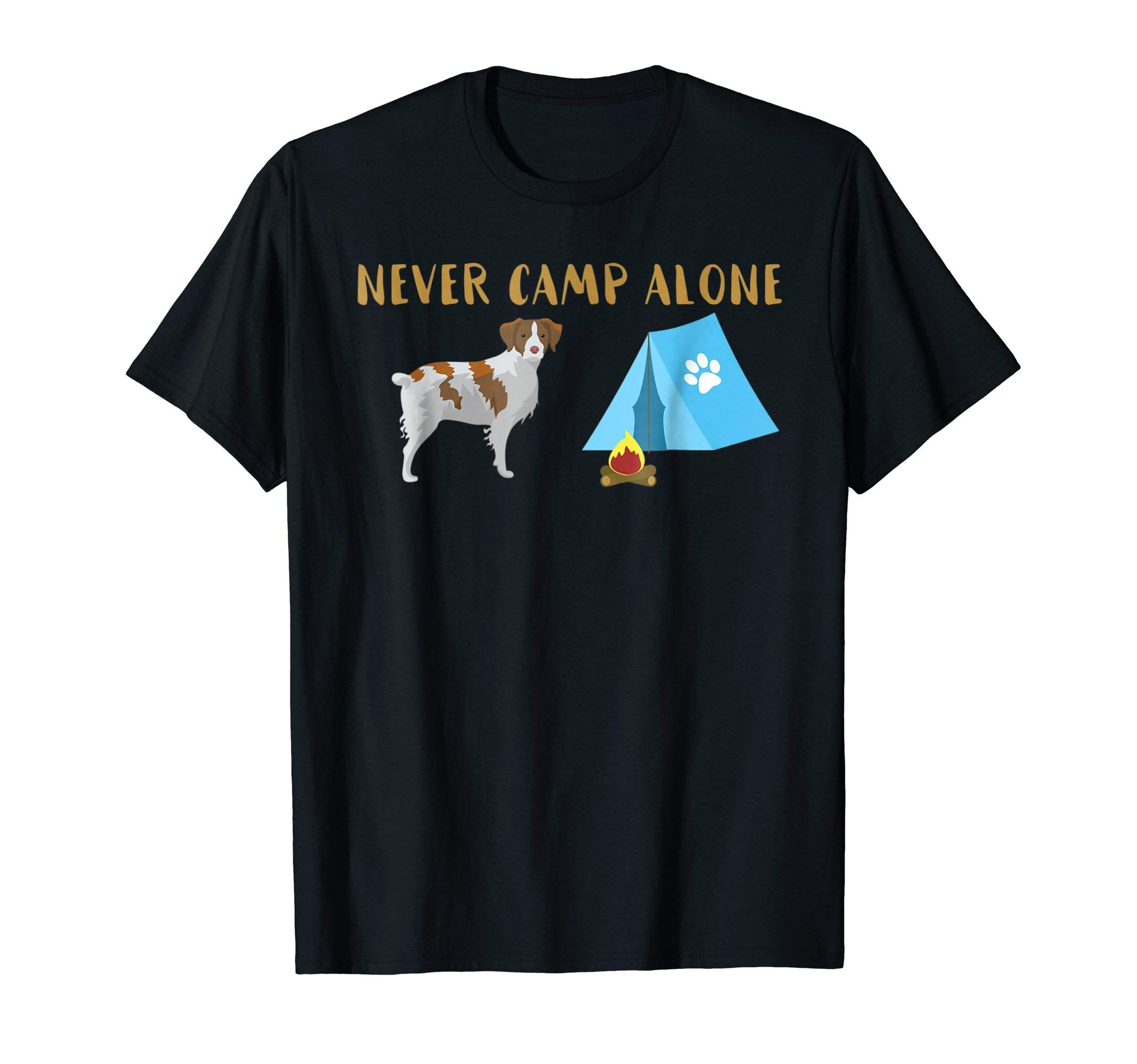 Brittany Spaniel Dog Tent Shirt Funny Camping Travel Trailer