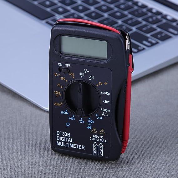 Digital LCD Multimeter Strommesser Voltmeter Strom Messgerät Amperemeter DT83B