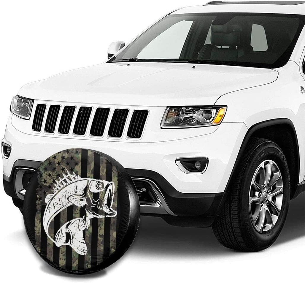 14 15 16 17 FPSMOUPD Spare Tire Cover Dream Catcher Polyester Universal Dust-Proof Waterproof Wheel Covers for Trailer RV SUV Truck and Many Vehicles