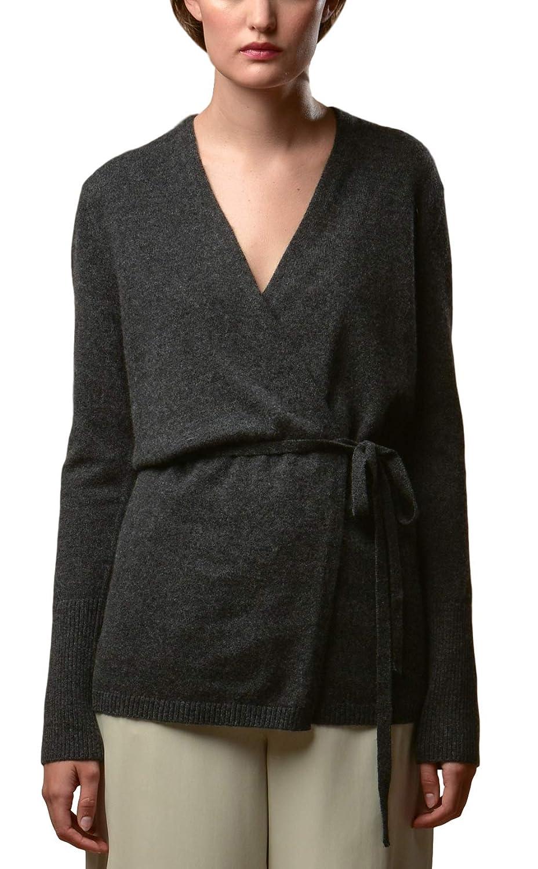 Wrap  Graphte P.CASHMERE NYC Long Pure Cashmere Cardigan