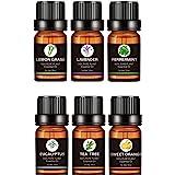 Aceites Esenciales de Aromaterapia, 100% de Aceite Esencial Natural Conjunto, para Conjunto de Difusores y Humidificadores Ay