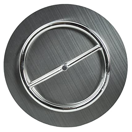"""Dreffco (The Original 18"""" Stainless Steel Fire Pit Burner Pan with  Stainless Steel Ring - Amazon.com: Dreffco (The Original 18"""